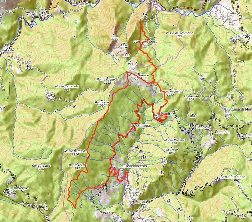 Mappa Escursione Svizzera Pesciatina